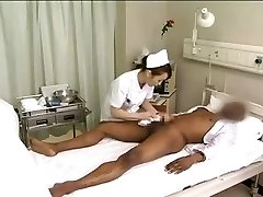 Chinese nurses drain black spunk-pump