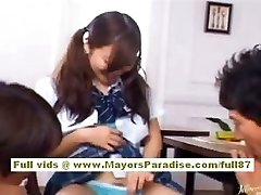 Miyu Hoshino asian student enjoys getting cootchie fingered