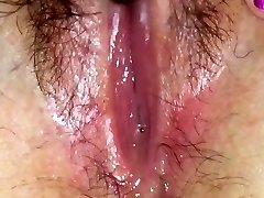 Raw pussy splooge solo