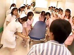 Azijske medicinskih sester v vročem gangbang