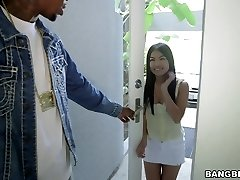Cindy Starfall takes giant ebony man sausage