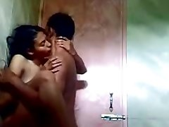 indian teenie in shower with her beau