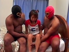Anal creampie and BIG BLACK COCK DP for Chinese girl