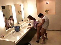 Finest Japanese nymphs Sho Nishino, Yumi Kazama in Amazing JAV censored Fingering, Big Tits scene