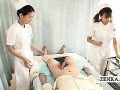 Subtitles CFNM two Japanese nurses hj with jizz shot