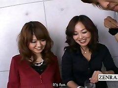 Subtitled Japanese CFNM amateur group female dominance with toys