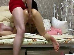 majhen japonski dekle grobo dvojno fisting