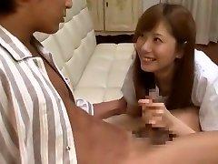 Neverjetno Japonski chick Yuma Asami v Noro Cumshots, Veliki Joški JAV film