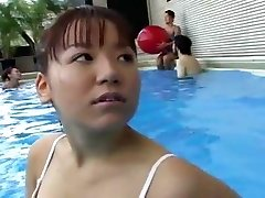 Teen Damsels Swimming Pool Climax