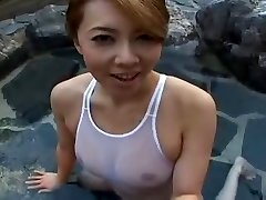 Peldkostīms Japāņu sluty Yumi baseins
