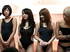Chinese swimsuit babes in bang-out