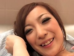 Kinky superslut licks dude's ass and cock in the bathroom