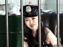 Japanese Female Dom Prison Guard Strap On Dildo