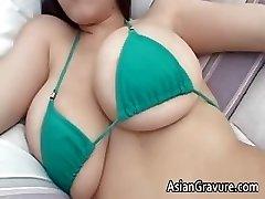 Cute brunette chinese hottie part4
