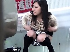Asian hos stagged on urinating