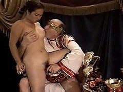 Азиатская молодая девушка кастинг пожилых &амп;амп; толстый дедушка