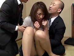 Hisae Yabe hot mature stunner in mmf gang action