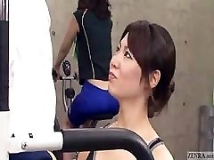 Asian trainer gets swelling at the gym