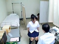 Cute Jap teen has her medical exam and gets unveiled