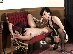 Japanese Femdom Prostate Massage Tied Slave