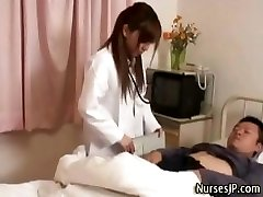 Horny chinese nurse honey teases