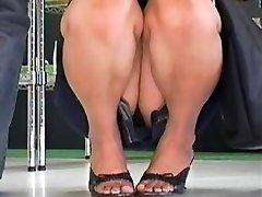 Hot up mini-skirt compilation of careless Asian bunnies
