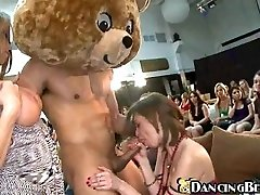 Hungry women and one lucky bear