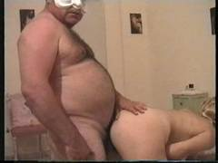 Amazing straight Bear plow his woman