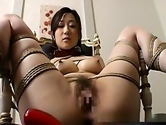 Hot Japanese honey gets stripped and led like a dog on a leash