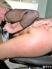 Alexis Malone pounded by two rods