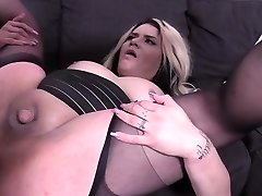 Hot shemale fucked hard and popshot
