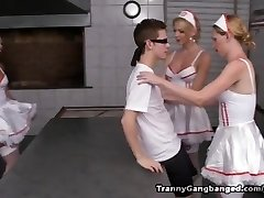 6 Tranny Nurses Have the Cure for this Horny Crank