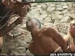 Wild mistress trannies explore a boy bum