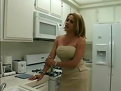 Sumptuous blonde tranny gets her long thick dick sucked
