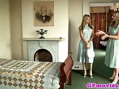 Vintage girl/girl fingering stockinged dyke