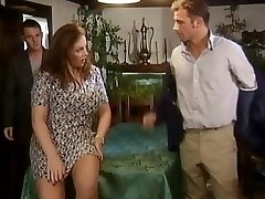 Two dicks for a busty crumpet