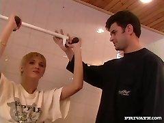 bianca, pizde formare trio în sala de gimnastică