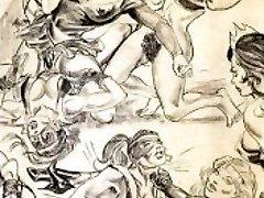 Amazons predominate in combined wrestling lesbian wrestling art comics