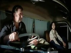 Vintage porn movie with a hot babe bonked in a van
