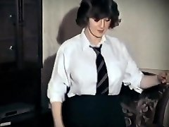 Whole LOTTA ROSIE - vintage massive tits schoolgirl strip dance