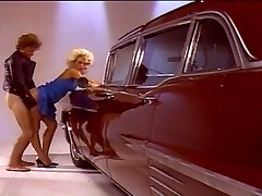 Blonde chick pulverizing good by the camper