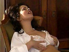 Lesbian Secretary Licks the Fur Covered Pussy Therapist