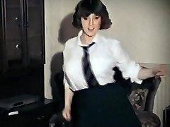 Entire LOTTA ROSIE - vintage big tits schoolgirl strip dance