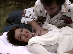 Retro porn demonstrates a plump chick getting boned outside