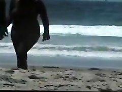 naakt paar op het strand