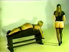 Retro Chick gets spanked and fucked.