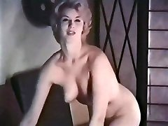 PERHAPS - vintage platinum-blonde striptease stockings gloves