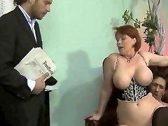 obese german milf threesome