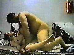 Vintage arab amateur duo make hard homemade anal