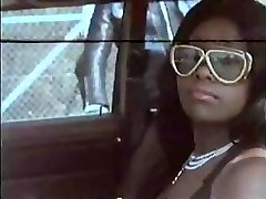 Vintage movie with this black stunner getting gangbanged hard
